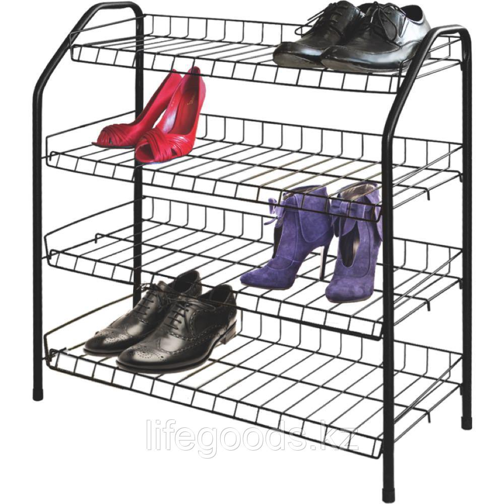 Этажерка для обуви 4 полки металл, Ника ЭТ1