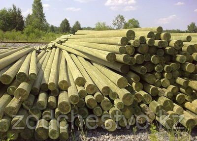 Деревянные опоры ЛЭП, деревянные столбы для линий электропередач (ЛЭП) и связи