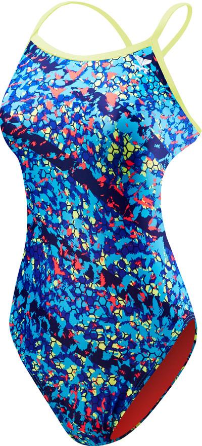 Купальник женский TYR Oceania Trinityfit цвет 420 Голубой размер 28
