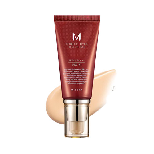 MISSHA M Perfect Cover BB Cream 21 - Light Beige - светлый беж 50 мл.