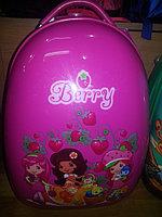 Детский чемодан на колесах Berry розовый