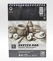 Скетчбук для зарисовок, А4, 160г/м²