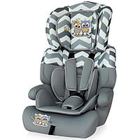 Автокресло Bertoni Junior Plus 9-36 кг Grey Baby Owls 1736