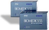 Контактные линзы Biomedics Evolution Aspheric 55% UV 8.6, 8.9