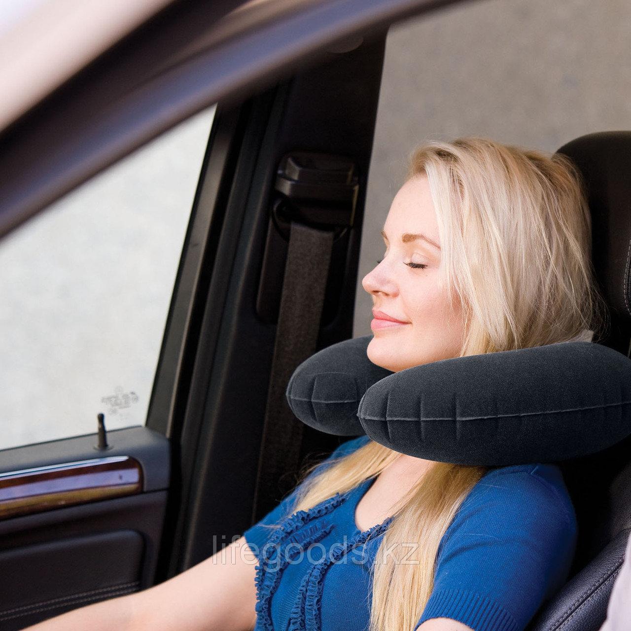 Надувная дорожная подушка - подголовник, Intex 68675