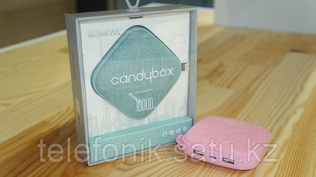 "ПЗУ POWER BANK ROMOS ""Candybox"" 10000mAh"