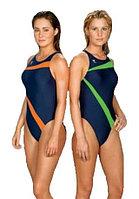 Слитный купальник TYR Poly Lumina Vaporback цвет зеленый/синий размер 26