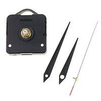 Набор: часовой механизм 3268 с подвесом, дискретный ход + комплект стрелок чёрные прямые12х18см, фото 1