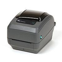 Термотрансферный принтер этикеток - Zebra GX430T (300DPI, USB, SERIAL, ETHERNET, отделитель)