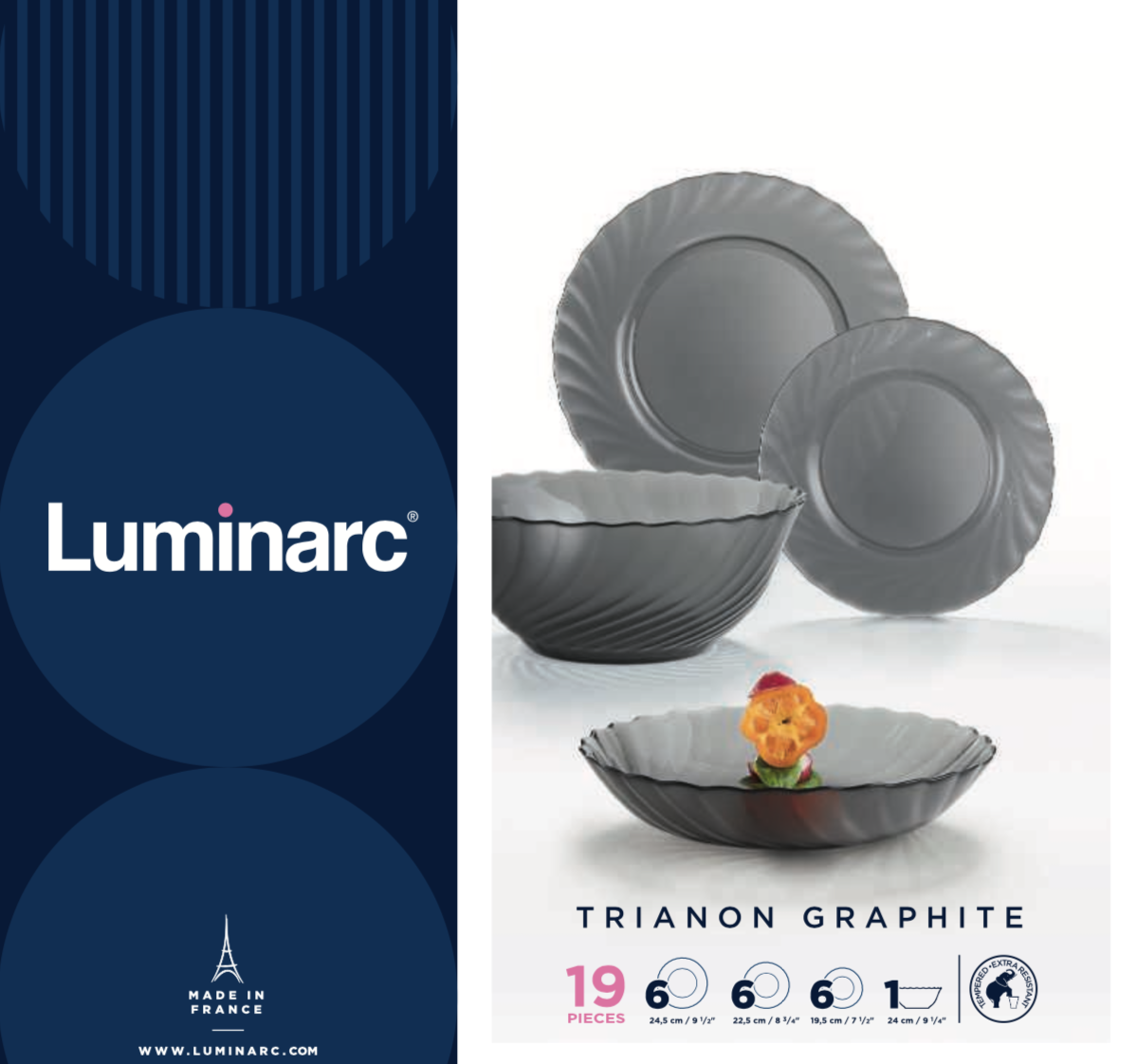 Столовый сервиз Luminarc Trianon Graphite 19 пр.
