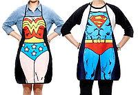 Парные фартуки Супермен и Чудо-женщина