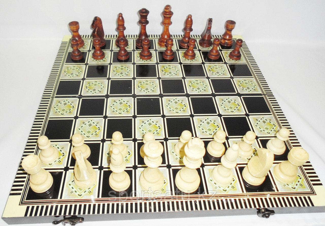 Шахматы 3 в 1 48cm x 48cm