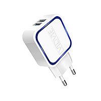 USB адаптер для быстрой зарядки Android и Apple устройств VIDVIE 2.1 с подсветкой (белый)