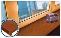 Подоконник ПВХ, золотой дуб 350мм