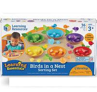 Развивающий набор «Цветные гнездышки» BIRDS IN NEST, фото 1