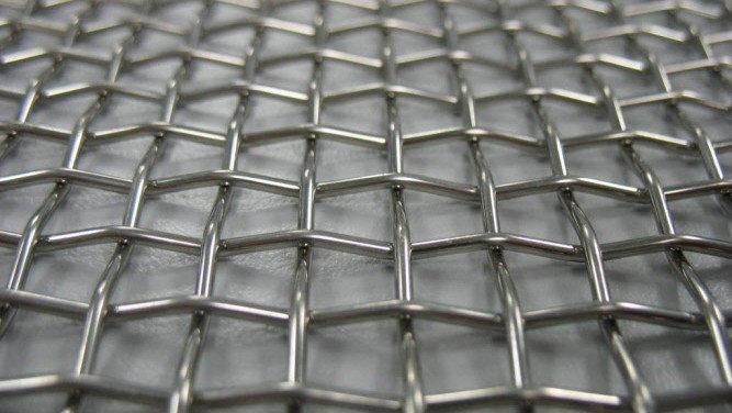 Сетка нержавеющая тканая с квадратными ячейками среднего размера, фото 2
