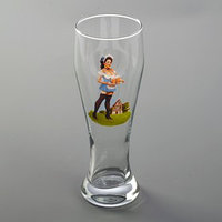Бокал пивной 500 мл Pin-up Beer (комплект из 2 шт.)