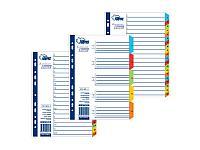 Разделители документов Forpus, РР, А4, 1-20 цветные