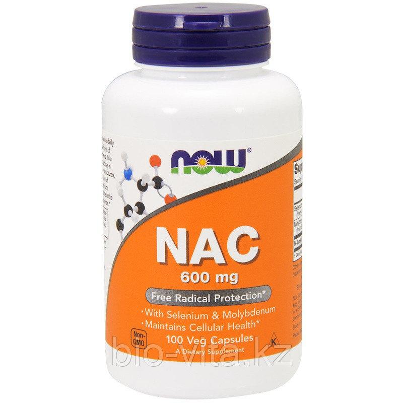 Now Foods, NAC (N-ацетил-цистеин), 600 мг, 100 капсул.