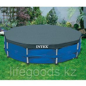 Тент - чехол для круглого каркасного бассейна диаметром 366 см, Intex 28031, фото 2