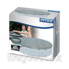 Тент - чехол для круглого каркасного бассейна диаметром 488 см, Intex 28040, фото 3