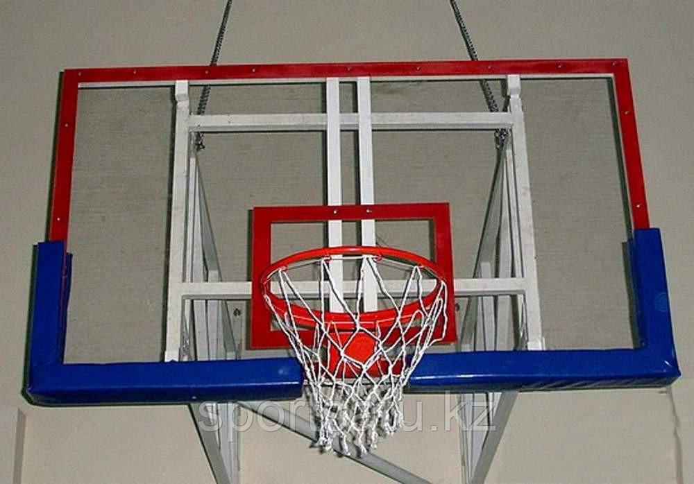 Баскетбольный щит оргстекло (кольца амортизационные в комплекте)