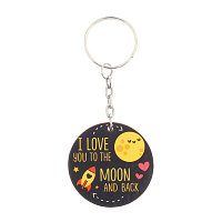 """Брелок """"I love you to the moon and back"""""""