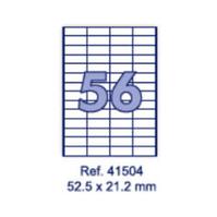 Наклейки А4, 52,5 х 21,2мм, 56/лист, 100 листов