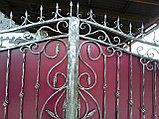 Металлические кованые ворота, фото 5