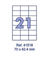 Наклейки А4, 70х42,4мм, 21/лист, 100 листов, фото 1