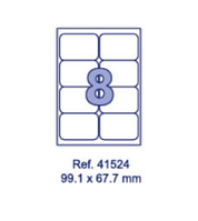 Наклейки А4, 99,1х67,7мм, 8/лист, 100 листов, фото 1