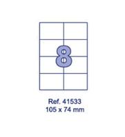 Наклейки А4, 105х74мм, 8/лист, 100 листов, фото 1