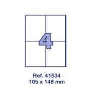 Наклейки А4, 105х148мм, 4/лист, 100 листов, фото 1