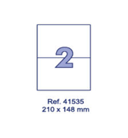 Наклейки А4, 210х148мм, 2/лист, 100 листов, фото 1