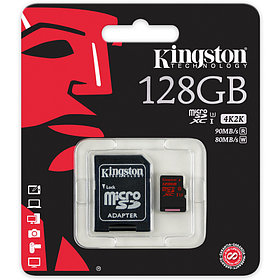 Карта памяти MicroSD 128GB Class 10 U3 Kingston SDCA3/128GB