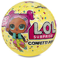 Кукла LOL Confetti Pop Series 3, шар ЛОЛ Конфетти поп серия 3