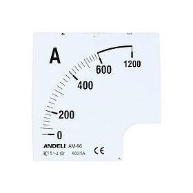 Шкала для амперметра ANDELI 100/5 (new)