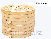 Китайская пароварка для мантов, бамбуковая, 60 л., фото 1
