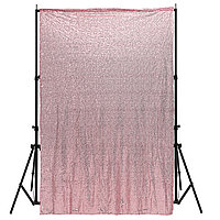 4X6FT Розовый Fabric Sequins Фотография Backgrond Backdrop Booth Свадебное Шторы