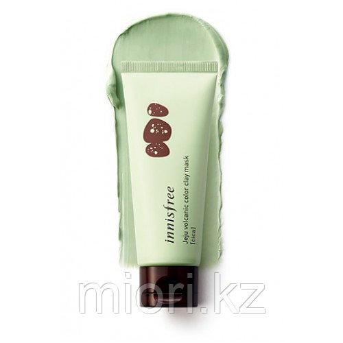Зеленая маска для проблемной кожи Innisfree Jeju Volcanic Color Clay Mask Green,70мл