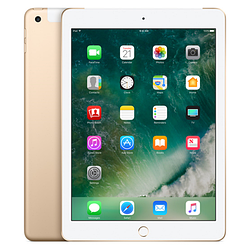 Apple ipad 128gb wi-fi cellular 2017 gold