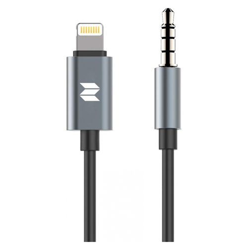 Переходник (rock space) lightning to 3.5mm audio cable, цвет серый (tarnish)