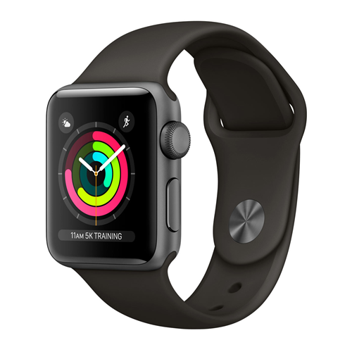 Apple watch 3 38mm aluminum case with sport band space grey