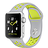 Apple watch series 2 38mm nike+ silver aluminum case with flat silver/volt nike sport band