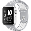 Apple watch series 2 38mm nike+ silver aluminum case with silver/white nike sport band