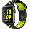 Apple watch series 2 42mm nike+ space gray aluminum case with black/volt nike sport band