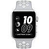Часы apple watch series 2 42mm nike+ silver aluminum case with silver/white nike sport band