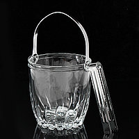 900mL Clear Glass Ice Bucket Пиво Шампанское Wine Cooler Bucket With Tong