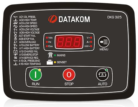 DKG-325 Автозапуск генератора со встроенными контакторами и ЗУ