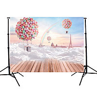 7X5FT Balloon Board этаж Радуга Sky Фотография Фон Фон